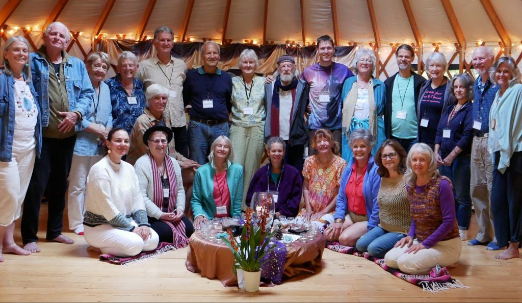LCC website Photo of group in yurt